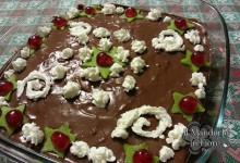 Sformato dolce agli amaretti e cioccolato