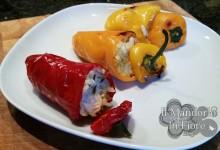 Peperoni ripieni di riso basmati e tonno
