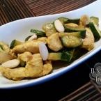 Pollo al curry con zucchine e mandorle