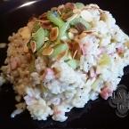 risotto con kiwi e pancetta