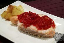 Salmone alla marmellata al pomodoro