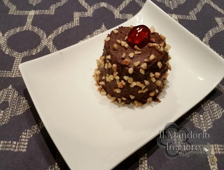 tortina al microonde con crema al cioccolato