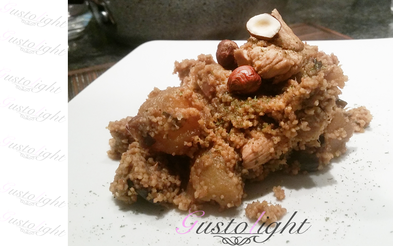 Cous Cous di pollo noci e zucchine