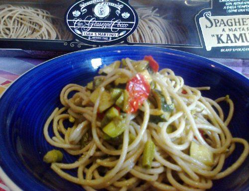 Spaghetti di kamut alle verdure