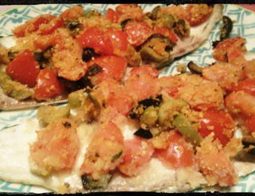 Filetti di trota in crosta mediterranea