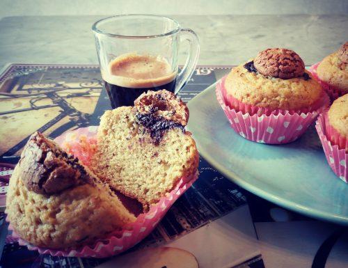 Muffin agli amaretti e caffe`