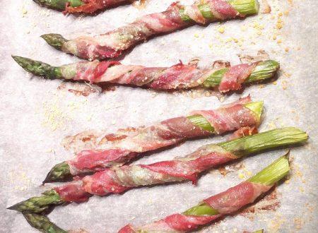 Vortici di asparagi e pancetta