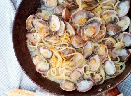 Spaghetti alle vongole con bottarga e zenzero