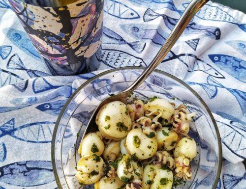 Seppioline grigliate alle erbe aromatiche