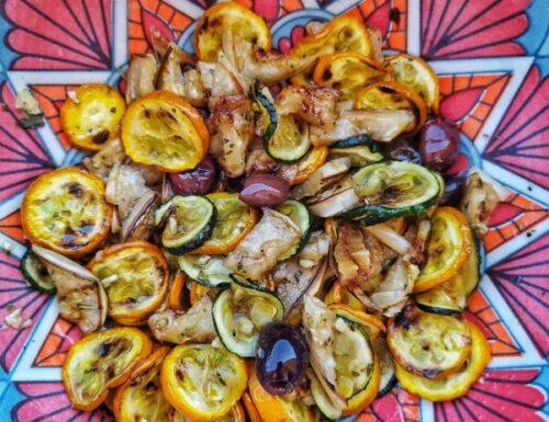 Insalata di pasta con zucchine, pecorino e menta