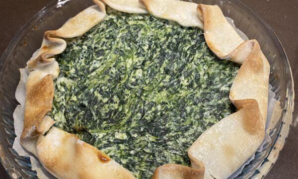 Torta brisé di spinaci