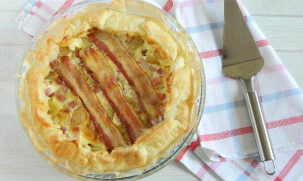 Torta salata patate bacon