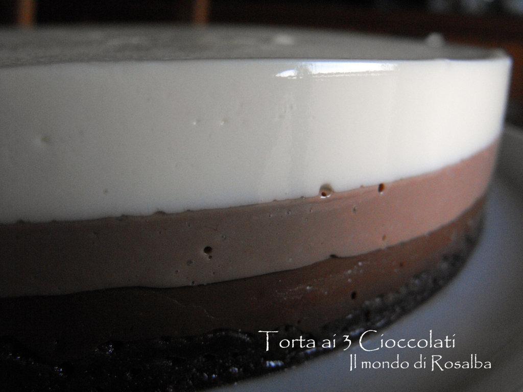 Torta 3 cioccolati