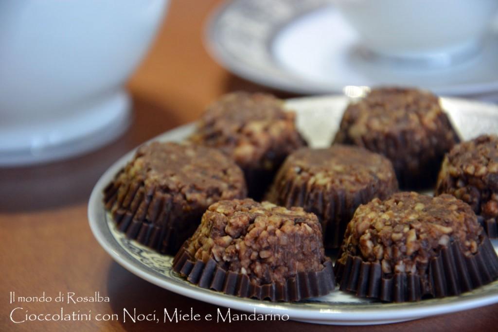 Cioccolatini con Noci, Miele e Mandarino