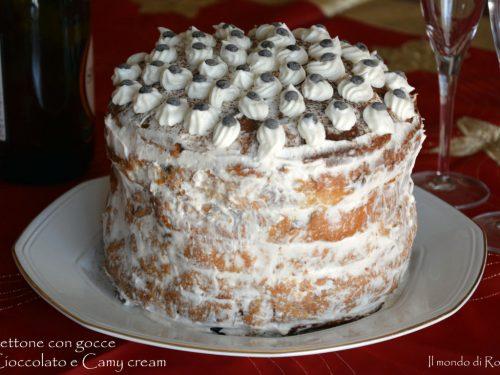 Panettone con gocce di Cioccolato e Camy cream