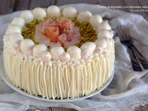 Torta antipasto con mousse salate (Ricetta tradizionale e Bimby)