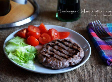 Hamburger di Manzo fatto in casa (Ricetta tradizionale e Bimby)