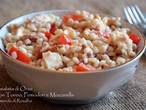 Insalata di Orzo con Tonno Pomodori e Mozzarella
