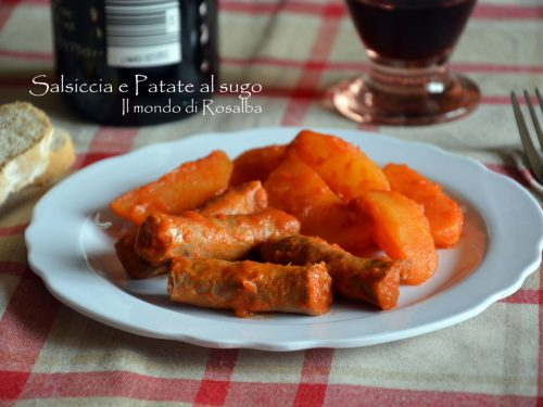 Salsiccia e Patate al sugo