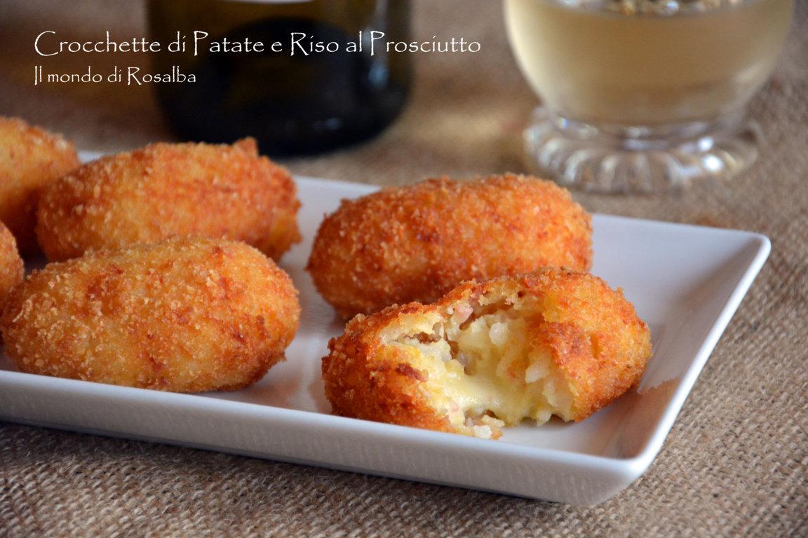 Crocchette di Patate e Riso al Prosciutto