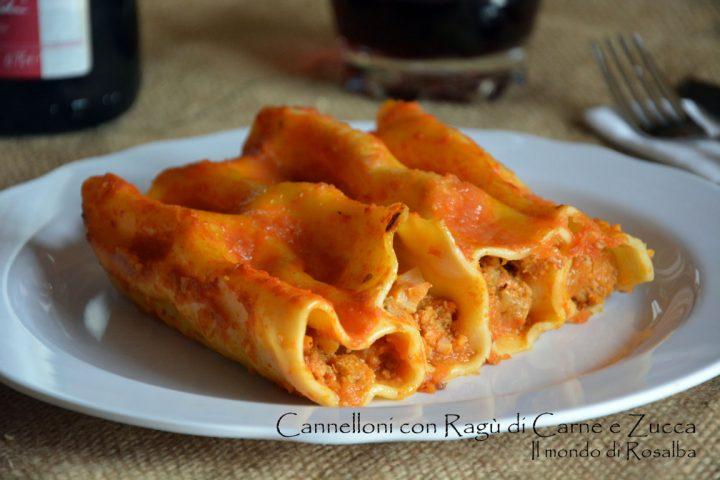Cannelloni con Ragù di Carne e Zucca