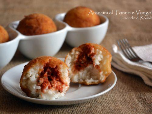 Arancini al Tonno e Vongole (Ricetta tradizionale e Bimby)
