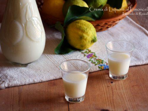 Crema di Liquore al Limoncello (Ricetta tradizionale e Bimby)