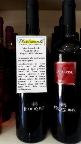 Vino rosso IGT Calabrise
