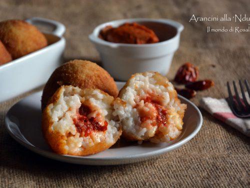 Arancini alla 'Nduja (Ricetta tradizionale e Bimby)