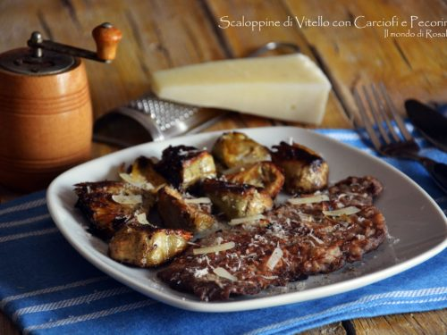 Scaloppine di Vitello con Carciofi e Pecorino (Ricetta tradizionale e Bimby)