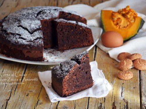 Torta al Cacao con Zucca e Amaretti