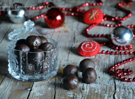 Tartufini di Pandoro al Caffè e Cioccolato