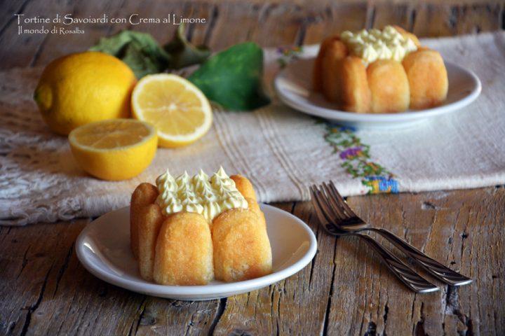 Tortine di Savoiardi con Crema al Limone