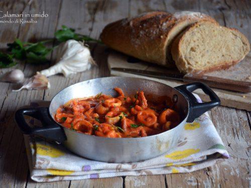 Calamari in umido (Ricetta tradizionale e Bimby)