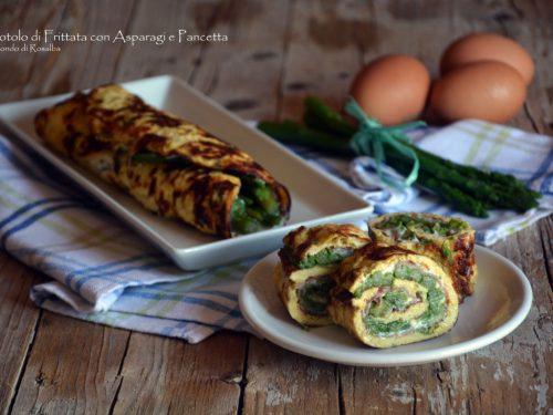 Rotolo di Frittata con Asparagi e Pancetta (Ricetta tradizionale e Bimby)