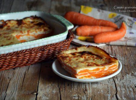 Carote gratinate (Ricetta tradizionale e Bimby)