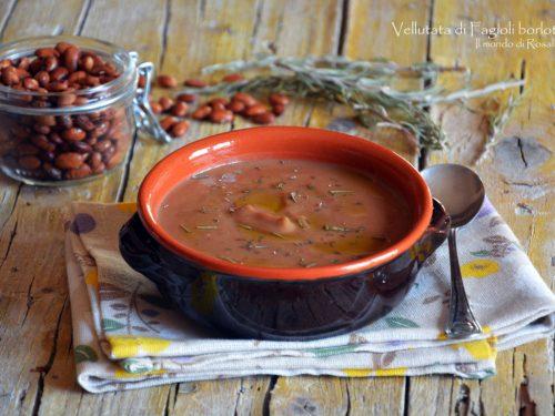 Vellutata di Fagioli borlotti (Ricetta tradizionale e Bimby)