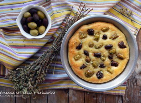 Focaccia con Olive e Rosmarino (Ricetta tradizionale e Bimby)