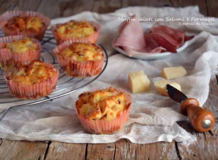 Muffin salati con Salumi e Formaggi (Ricetta tradizionale e Bimby)