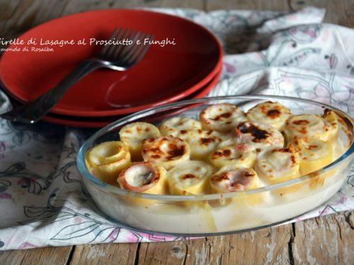 Girelle di Lasagne al Prosciutto e Funghi (Ricetta tradizionale e Bimby)