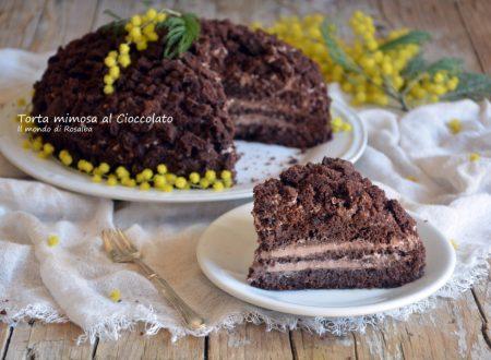 Torta mimosa al Cioccolato (Ricetta tradizionale e Bimby)