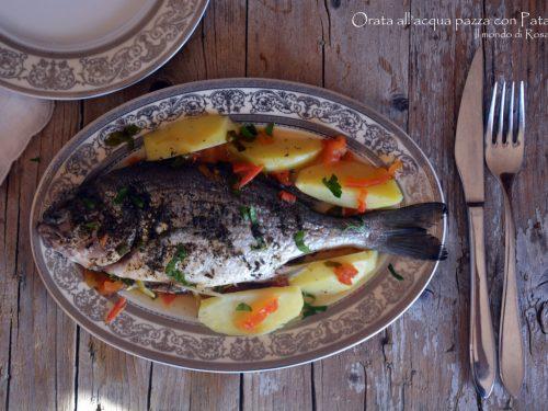 Orata all'acqua pazza con Patate (Ricetta tradizionale e Bimby)