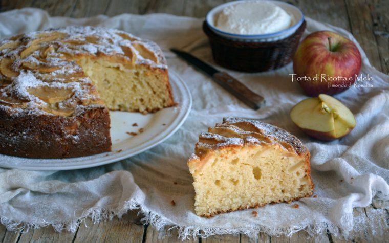 Torta di Ricotta e Mele (Ricetta tradizionale e Bimby)