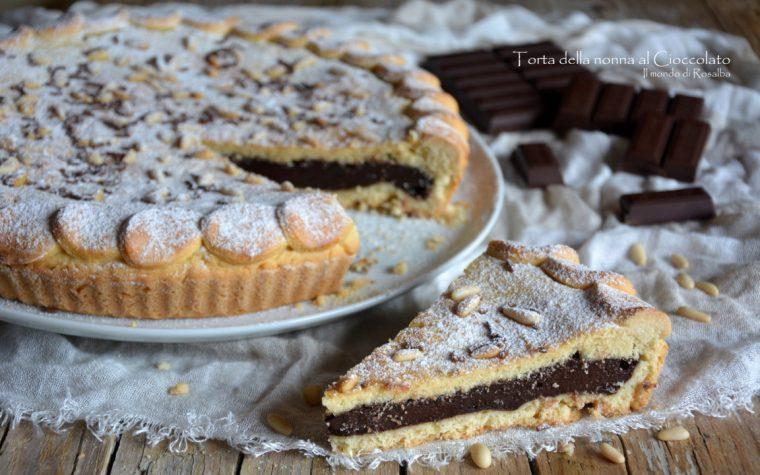 Torta della nonna al Cioccolato (Ricetta tradizionale e Bimby)