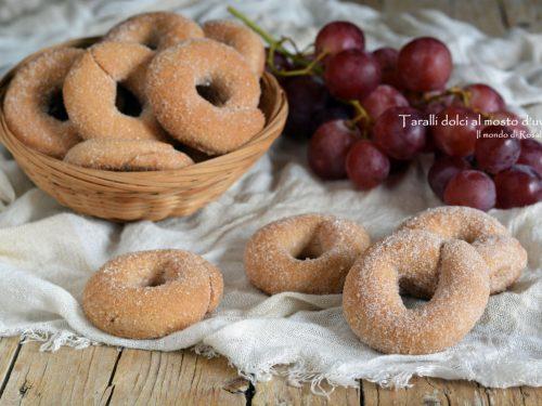 Taralli dolci al mosto d'uva (Ricetta tradizionale e Bimby)
