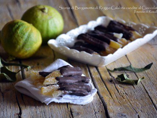 Scorze di Bergamotto di Reggio Calabria candite al Cioccolato (Ricetta tradizionale e Bimby)