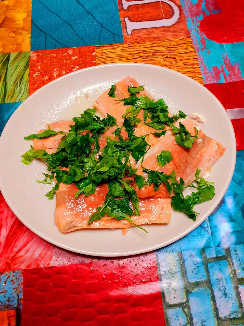 Cuori di filettto di salmone surgelato