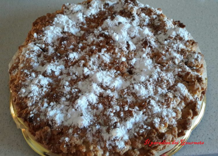 Torta sbriciolata ricotta marmellata e cocco