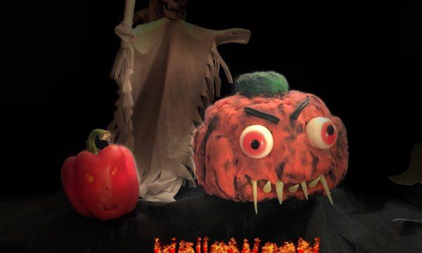 Torta di zucca di Halloween in 3d
