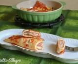 Omelette con prosciutto e scamorza